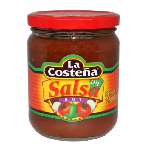 Csípős salsa tortilla chips-hez 453 g- La Costena